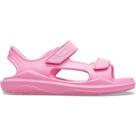 Crocs sandały dla dzieci Swiftwater Expedition różowe 206267 6M3