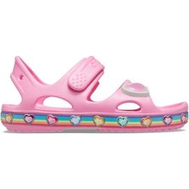 Crocs sandały dla dzieci Fun Lab Rainbow różowe 206795 669