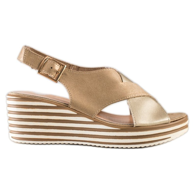 Złote Sandały Na Koturnie Sergio Leone złoty