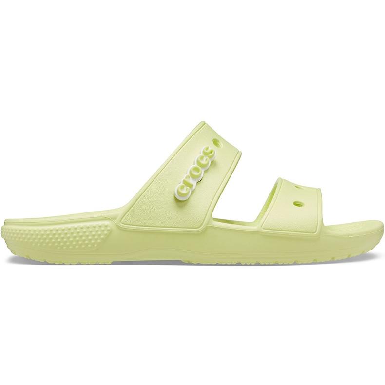 Crocs klapki Classic żółte 206761 3U4 zielone