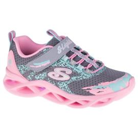 Buty Skechers Twisty Brights W 302301L-GYPK różowe szare