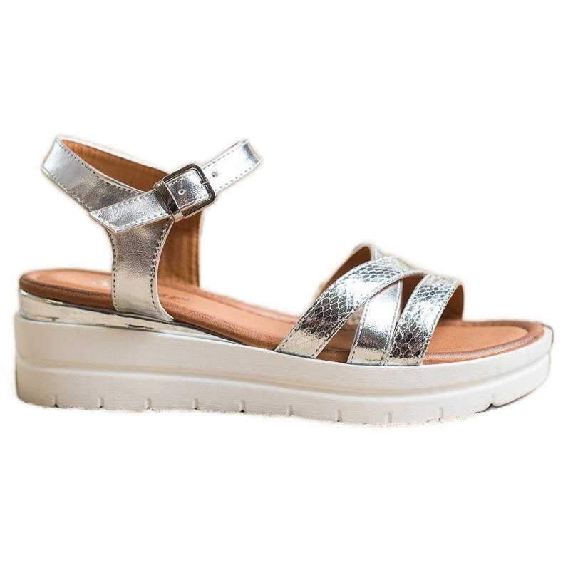 Seastar Sandały Na Platformie srebrny