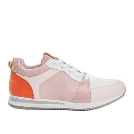 Różowe obuwie sportowe z eko-skóry Elaine