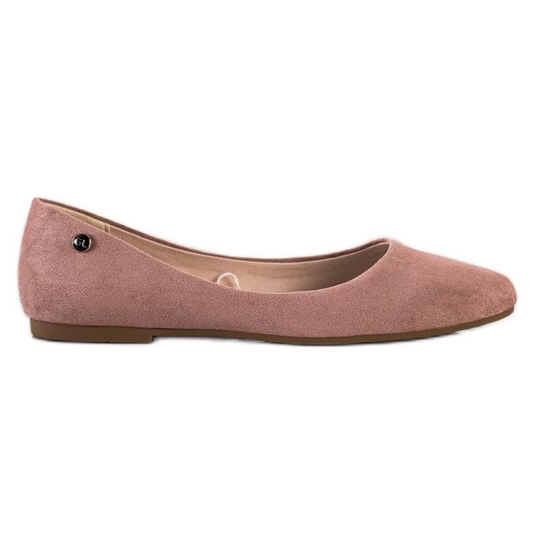 Klasyczne Baleriny Sergio Leone BL611 różowe