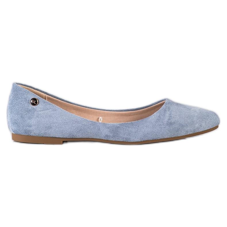 Klasyczne Baleriny Sergio Leone BL622 niebieskie
