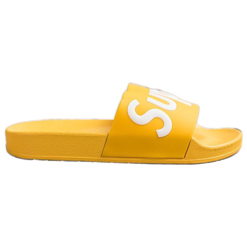 Seastar Gumowe Klapki Super białe żółte