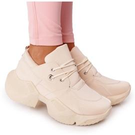 PS1 Damskie Sneakersy Na Masywnej Podeszwie Beżowe Bubbly beżowy