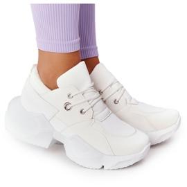 PS1 Damskie Sneakersy Na Masywnej Podeszwie Białe Bubbly