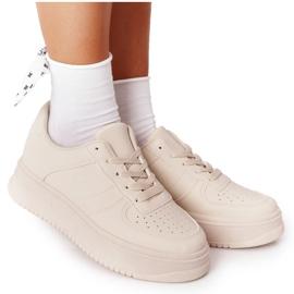 PS1 Damskie Sportowe Buty Na Platformie Beżowe This Is Me beżowy