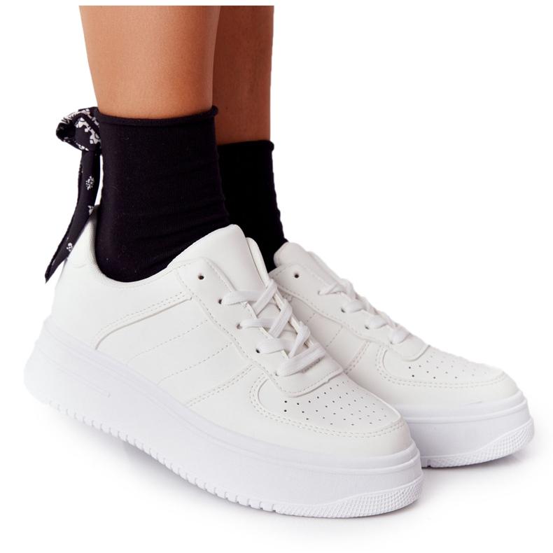 PS1 Damskie Sportowe Buty Na Platformie Białe This Is Me