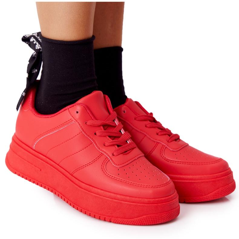 PS1 Damskie Sportowe Buty Na Platformie Czerwone This Is Me