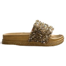 Seastar Klapki Z Kryształkami Fashion złoty
