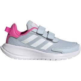 Buty dla dzieci adidas Tensaur Run C szaro-różowe FY9197 szare