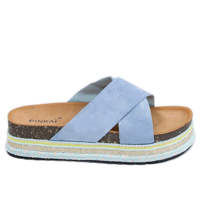 Klapki korkowe niebieskie LS016 Blue