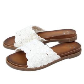 Klapki damskie białe H006 Blanco