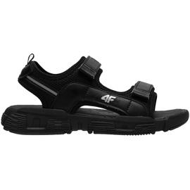 Sandały dla chłopca 4F głęboka czerń HJL21 JSAM002 20S czarne