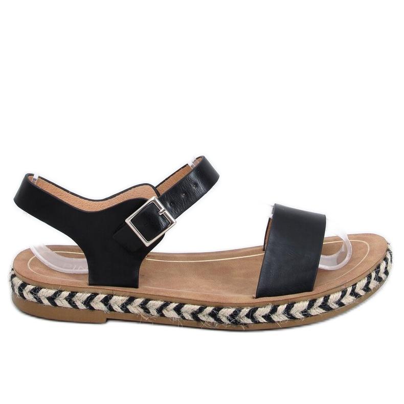 Sandałki espadryle czarne TH005 Black