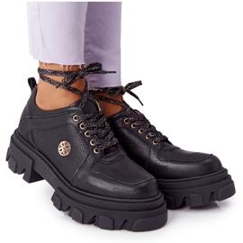 Skórzane Półbuty Oxfordy Lewski Shoes 3011-0 Czarne