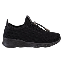 SUPER COOL Czarne Tekstylne Sneakersy