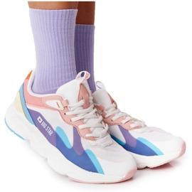 Damskie Sportowe Buty Memory Foam Big Star HH274809 Biało-Różowe białe fioletowe niebieskie