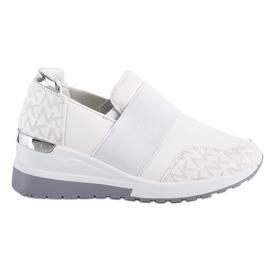 SHELOVET Wsuwane Białe Sneakersy