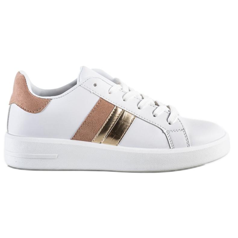 SHELOVET Casualowe Białe Sneakersy