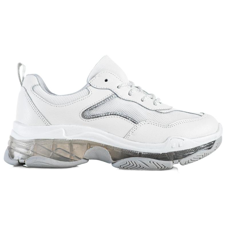 Goodin Sneakersy Ze Skóry białe