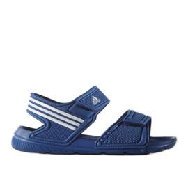 Sandały adidas Akwah 9 Jr S74649 niebieskie