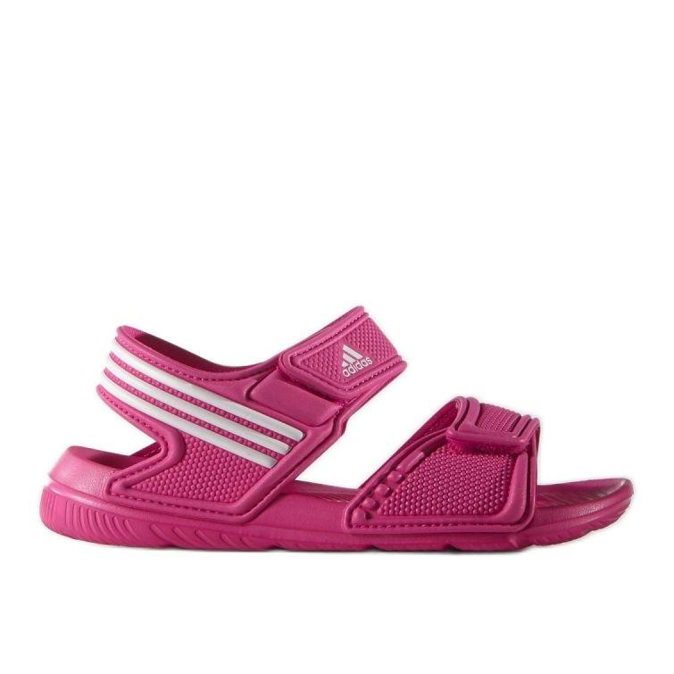 Sandały adidas Akwah 9 Jr AF3871 niebieskie różowe