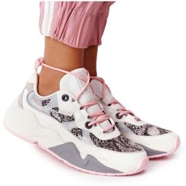 Damskie Sportowe Buty Memory Foam Big Star HH274326 Białe różowe wielokolorowe