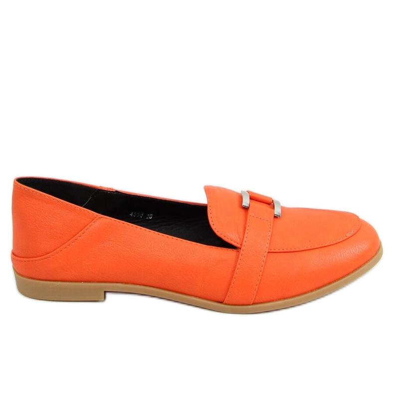 Mokasyny damskie pomarańczowe 4585 Orange