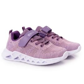 Dziecięce Sportowe Buty Sneakersy Big Star HH374183 Fioletowe