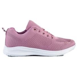 SUPER COOL Lekkie Ażurowe Sneakersy różowe