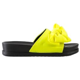 Seastar Klapki Z Kokardą żółte