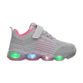 Vices 3XC8078-LED-197-grey/fushia różowe szare