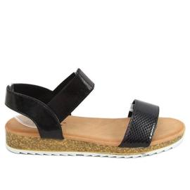 Sandałki damskie czarne 38853 Black
