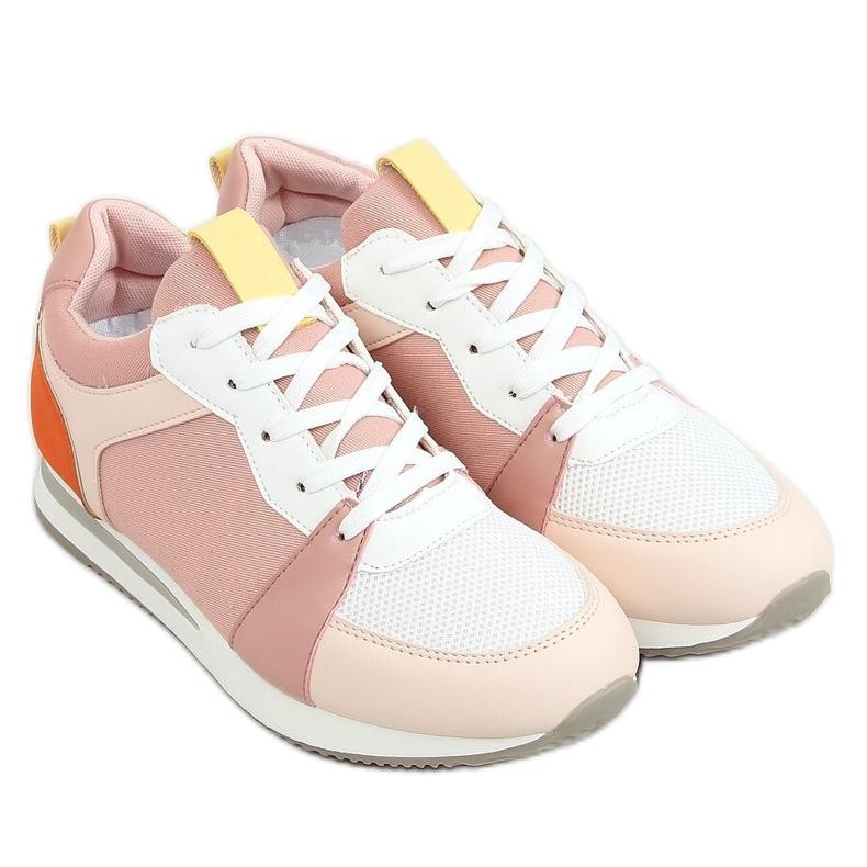 Buty sportowe wielokolorowe B0-546 Pink