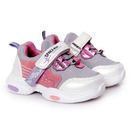 Dziecięce Sportowe Buty Sneakersy Biało-Różowe Space Ride białe szare wielokolorowe