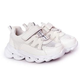 Dziecięce Sneakersy Ze Świecącą Podeszwą Led Białe So Cool!