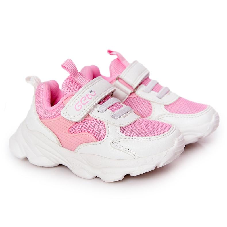 Dziecięce Sportowe Buty Sneakersy Biało-Różowe Sugar białe