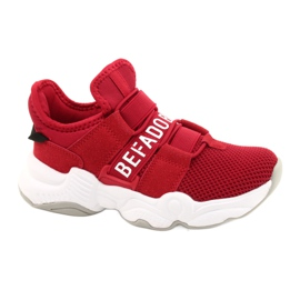 Befado obuwie dziecięce  516X064 białe czerwone