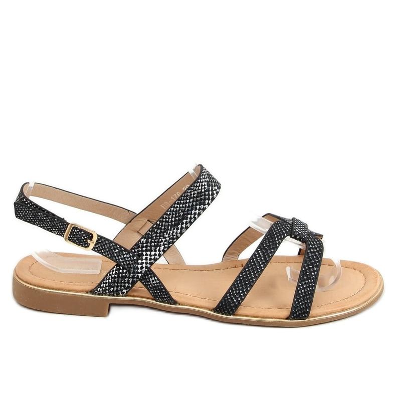 Sandałki damskie czarne H8-176 Black