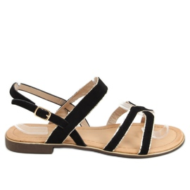 Sandałki damskie czarne H8-177 Black