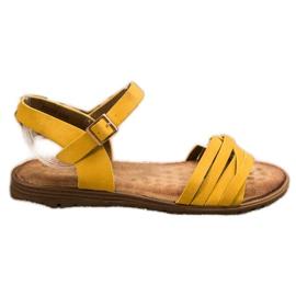 Evento Klasyczne Sandałki Ze Sprzączką żółte