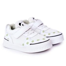 Apawwa Dziecięce Sportowe Buty Z Pandą Biało-Zielone Chico białe