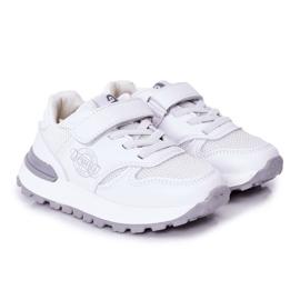 Apawwa Dziecięce Sportowe Buty Sneakersy Białe Skatepark