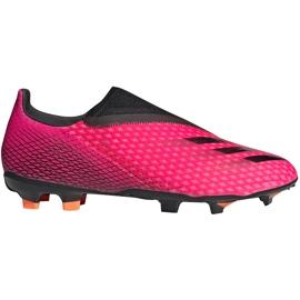Buty piłkarskie adidas X Ghosted.3 Ll Fg FW6968 różowe różowe