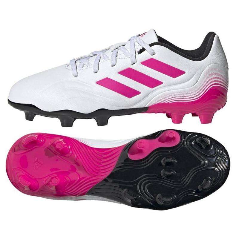 Buty piłkarskie adidas Copa Sense.3 Fg Jr FX1986 granatowy, biały, różowy białe