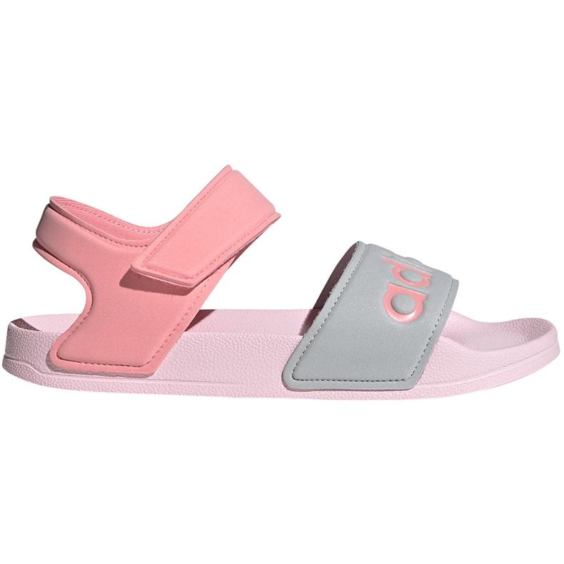 Sandały dla dzieci adidas Adilette Sandal K szaro-różowe FY8849