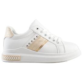 SHELOVET Casualowe Sneakersy białe złoty